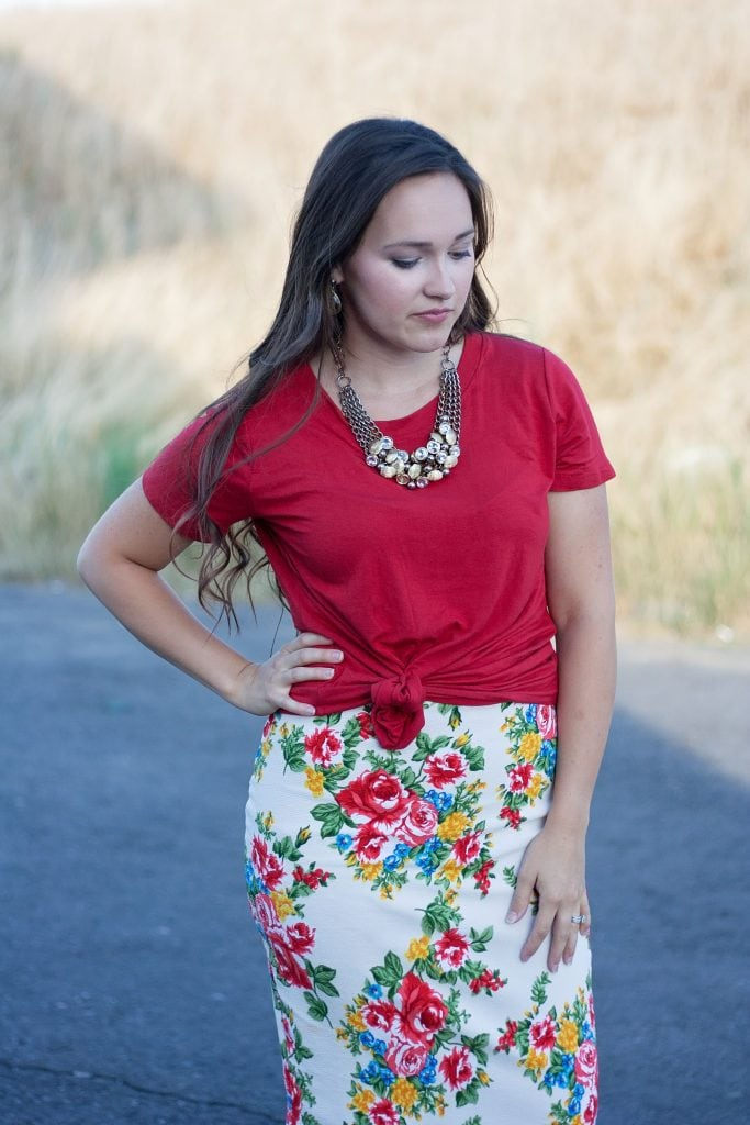 Free Pencil Skirt Pattern featured by top US sewing blogger, Sweet Red Poppy