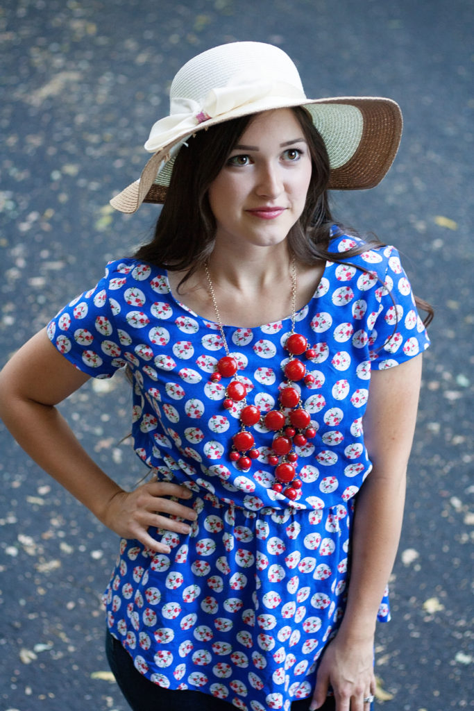 Patterns for Pirates Timeless Tunic PDF Sewing Pattern in blue rayon