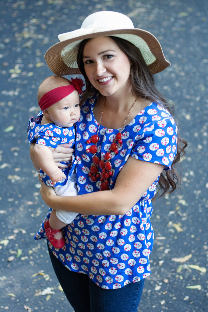 Patterns for Pirates Timeless Tunic and Tiny Timeless PDF Sewing Pattern in blue rayon