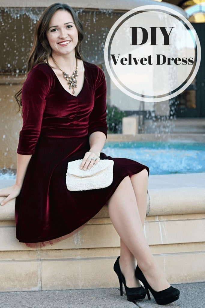 Velvet Davina Dress Itch to Stitch Style Maker Fabrics Velvet Dress PDF Sewing Pattern