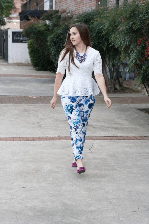 PDF Sewing Pattern Peplum Top and Pants Sew Caroline Primrose Peplum Sew Over It Ultimate Trousers