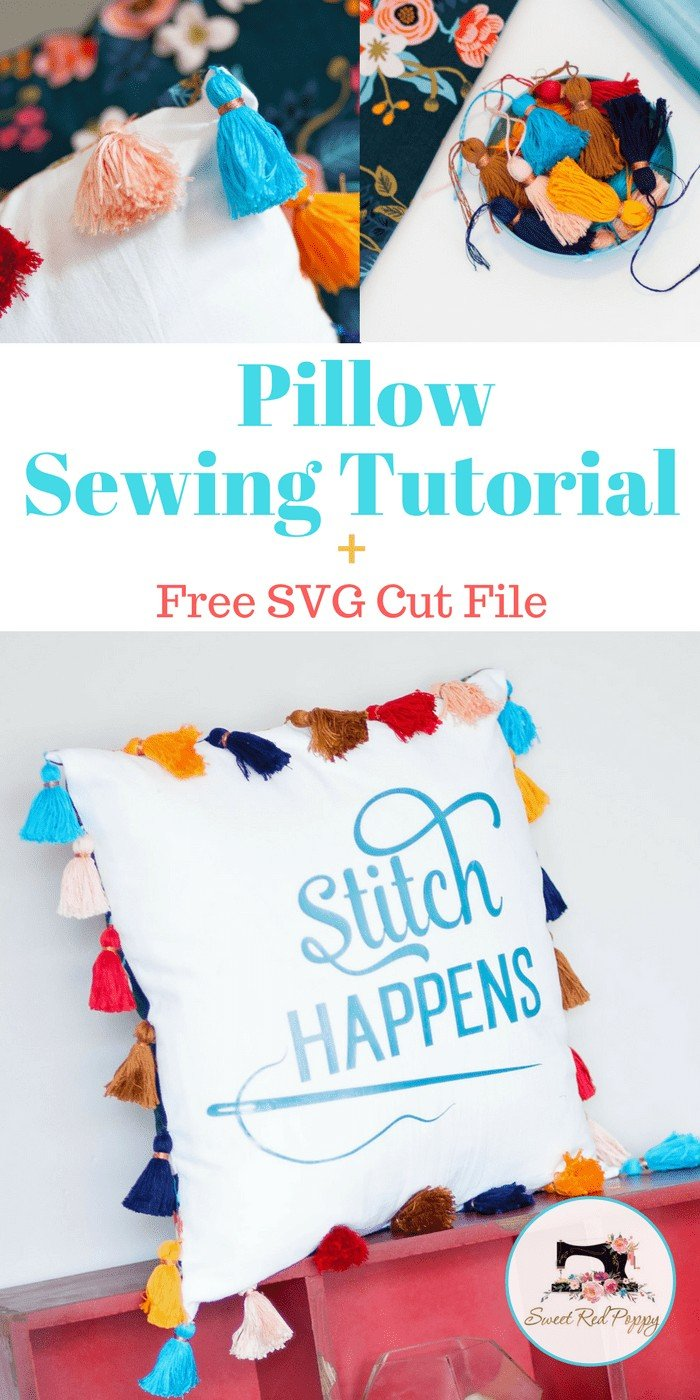 Stitch Happens Free SVG File and Pillow Sewing Tutorial