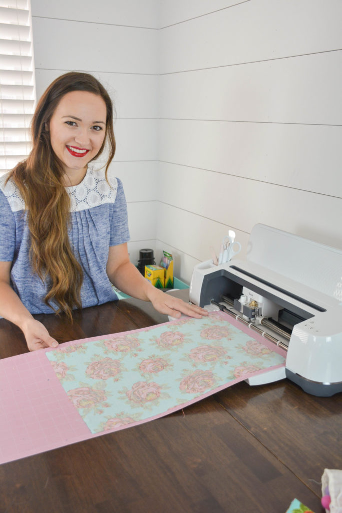 The Cricut Maker Machine cuts fabric easily with the rotary blade
