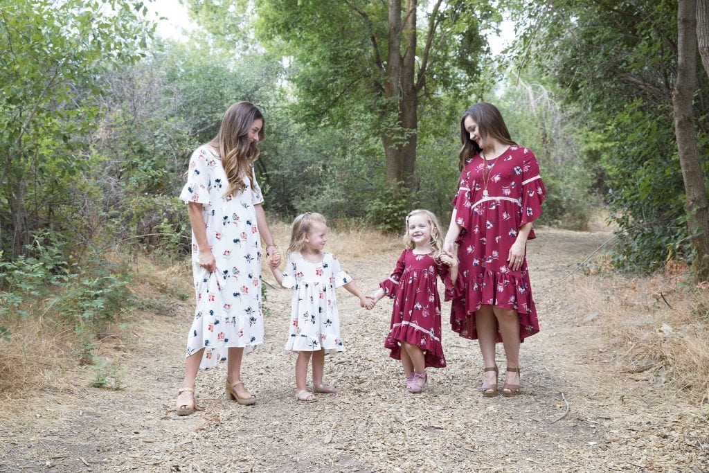 Patricia PDF Sewing Pattern Girls and Women's Dress Hi-lo Boho Stylish Fabric Floral Print Crepe