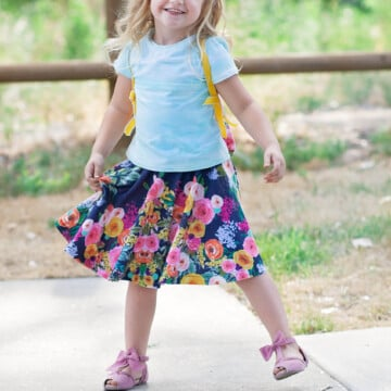 Easy Circle Skirt Sewing Tutorial featured by top US sewing blog, Sweet Red Poppy