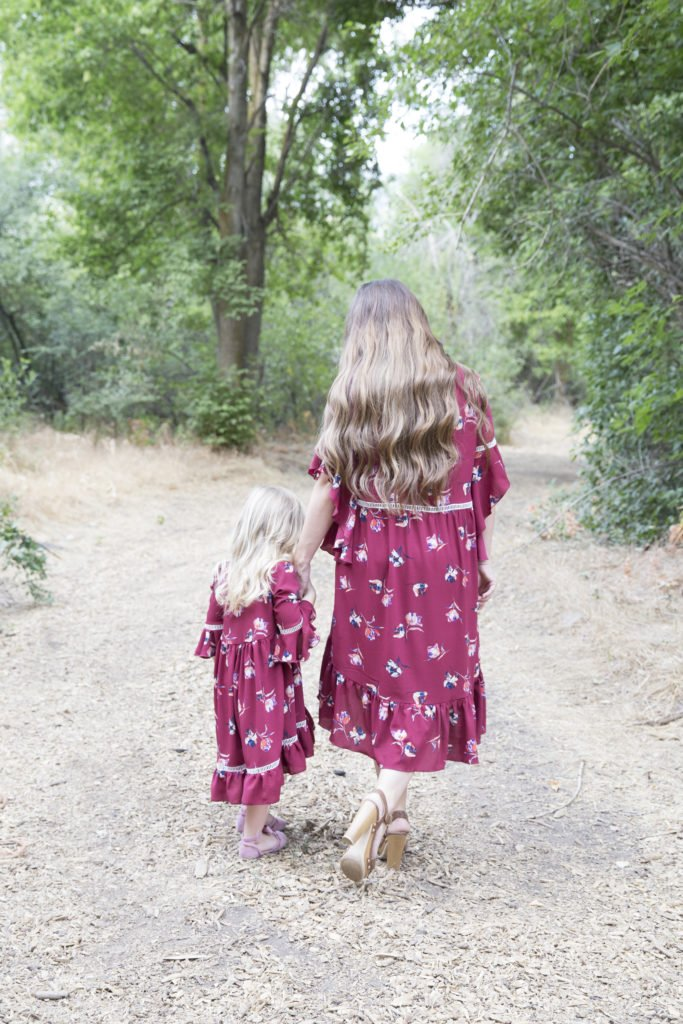 Stylish Fabrics Floral Crepe Fabric PDF Sewing Dress Pattern