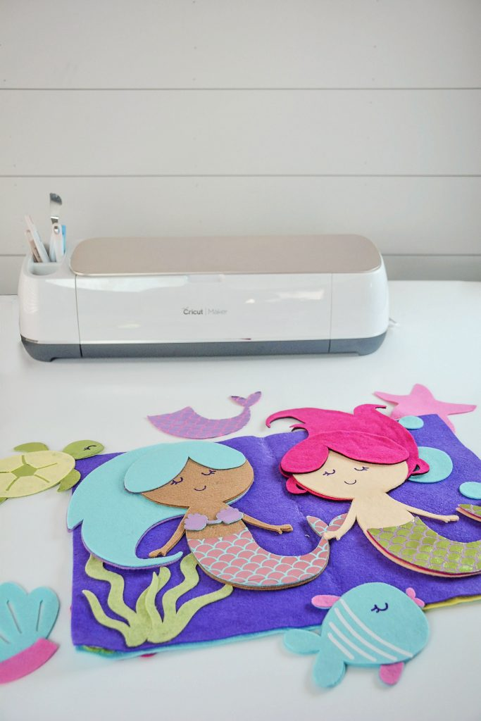 The New Cricut Maker Cutting Machine Felt Mermaid Quiet Busy Book SVG Free Tutorial