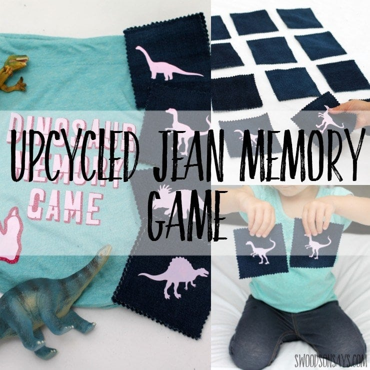 Swoodson Says Upcycled Jean Memory Game HTV Cricut