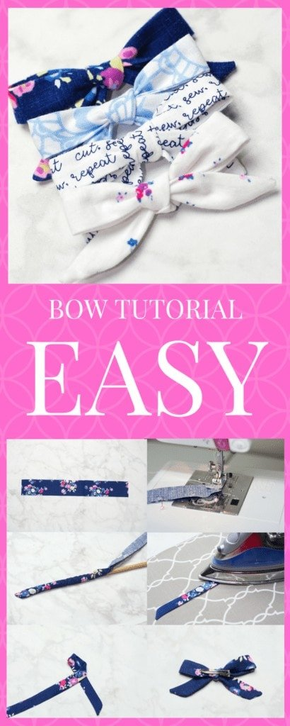DIY Hair Bows: How To Make a Simple Hair Bow Sewing Tutorial featured by top US craft blogger, Sweet Red Poppy.