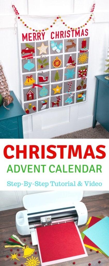 Felt Christmas Advent Calendar Step by Step Tutorial Using The Cricut Maker