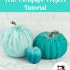 DIY Teal Pumpkin Project Painted Pumpkin Tutorial and Sewing Tutorial