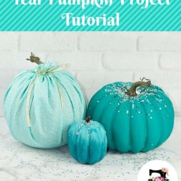 DIY Teal Pumpkin Project Painted Pumpkin Tutorial and Sewing Tutorial