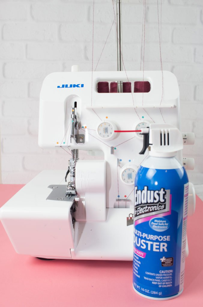clean out your serger