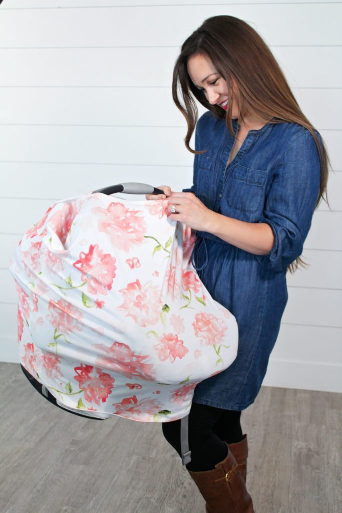 Sew your own Carseat Canopy with this simple tutorial