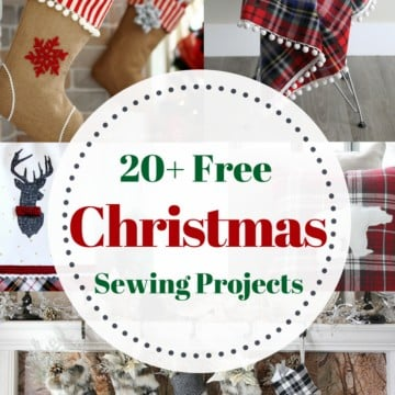 20+ Christmas Sewing Projects featured by top US craft blogger, Sweet Red Poppy