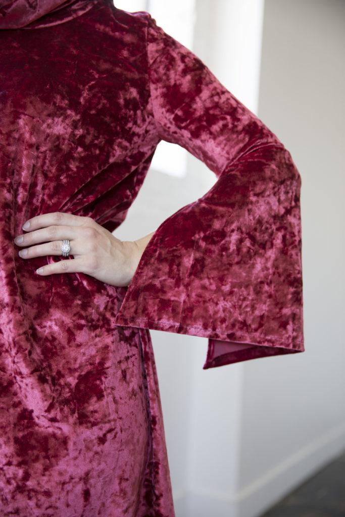 Stylish Fabric Crushed Stretch Velvet
