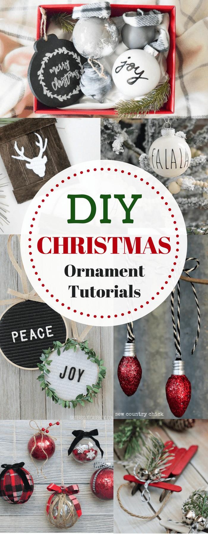 Rustic Farmhouse Christmas Ornament DIY Tutorials