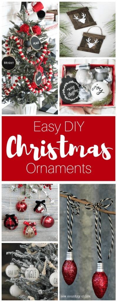 Easy DIY Farmhouse Christmas Ornament DIY Tutorials