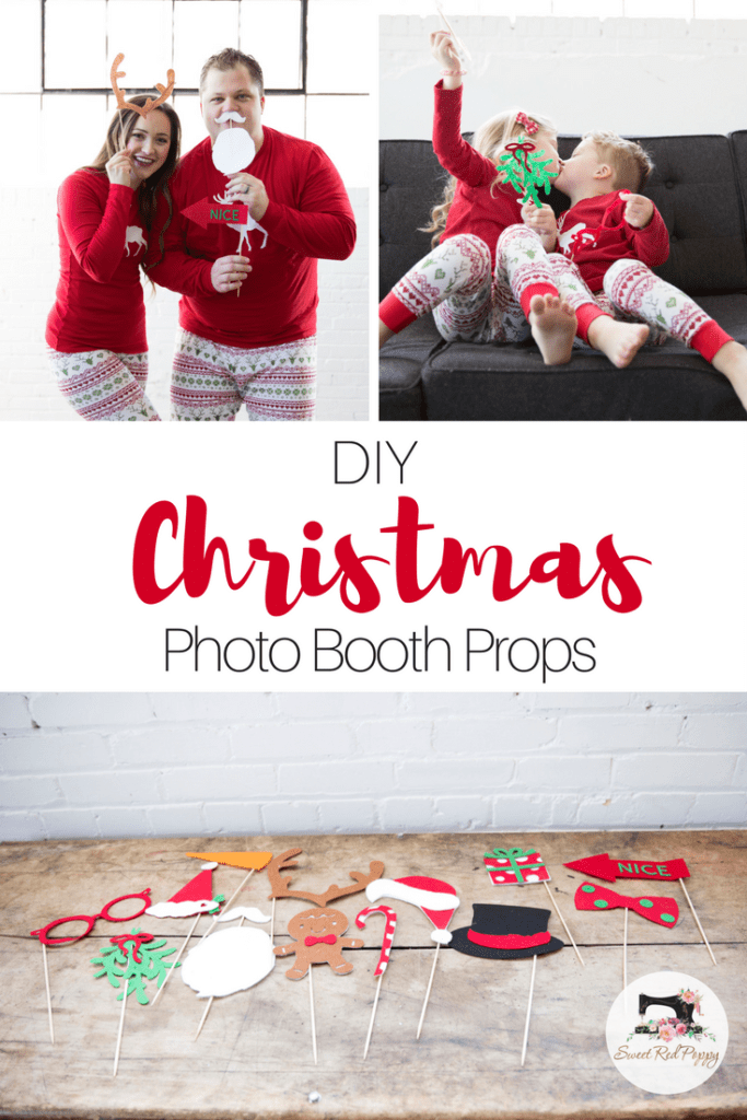Christmas PJ DIY Tutorial Free PDF Sewing Pattern, Photo Booth Props & Cut File.