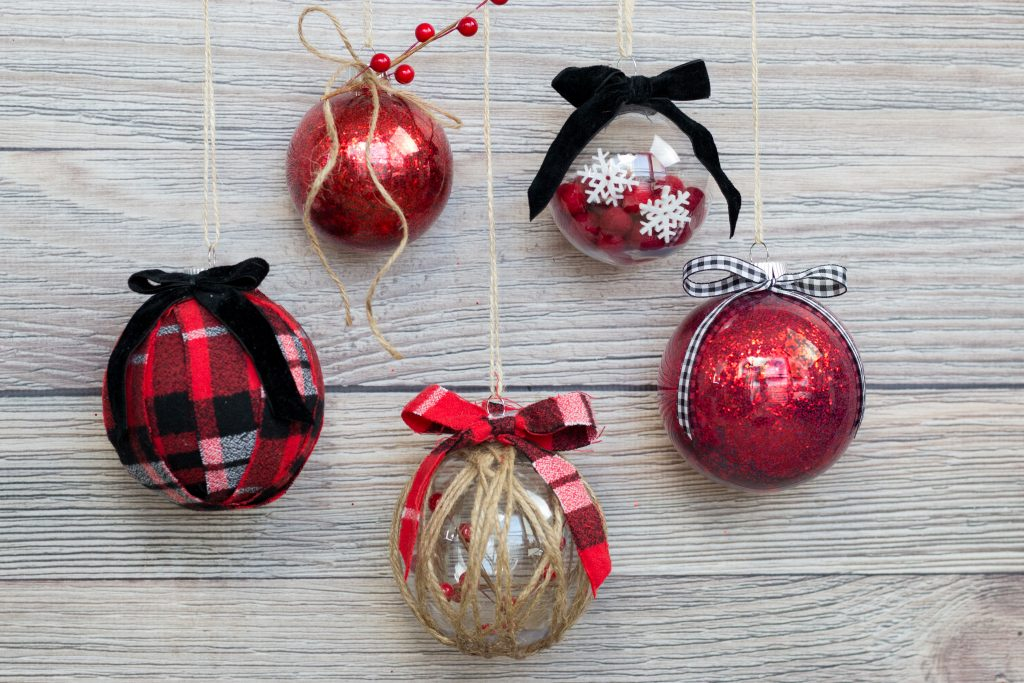 How to Decorate Clear Plastic Ornaments for Christmas, a tutorial featured by top Utah craft blogger, Sweet Red Poppy