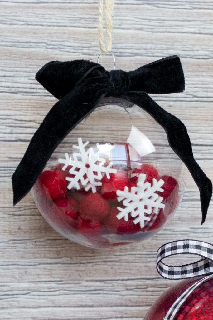 Mod Podge Clear Plastic Christmas Ornament Felt Ball Tutorial