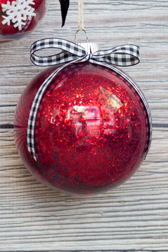 Mod Podge Clear Plastic Christmas Ornament Glitter Tutorial