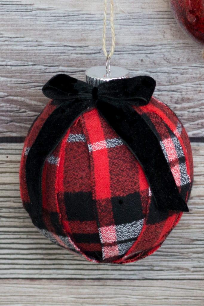 Fabric Covered Christmas sOrnament DIY Tutorial