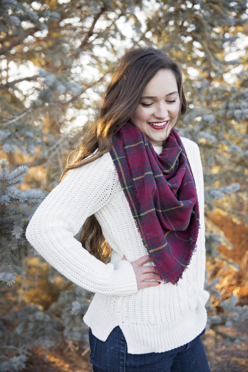 Easy DIY Flannel Infinity Blanket Scarf Tutorial