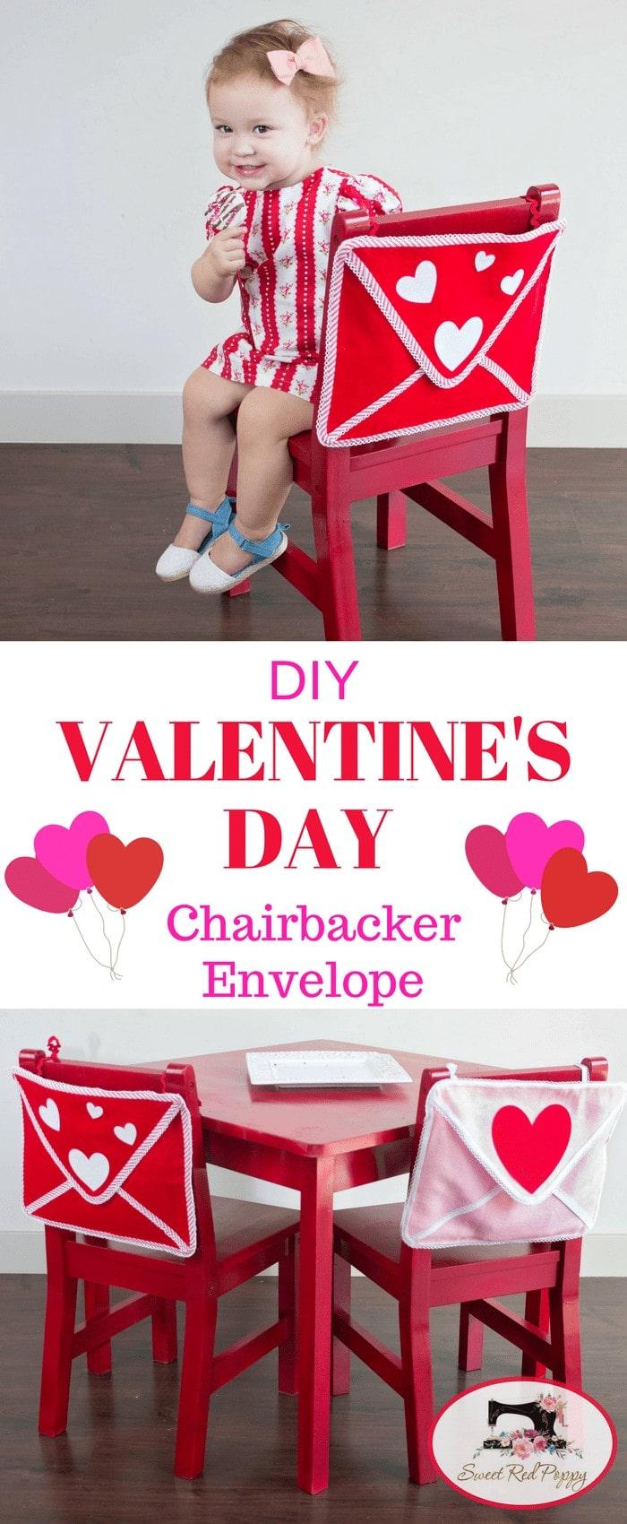 VAlentine's Day Chair Backer Envelope Tutorial Pottery Barn Inspired