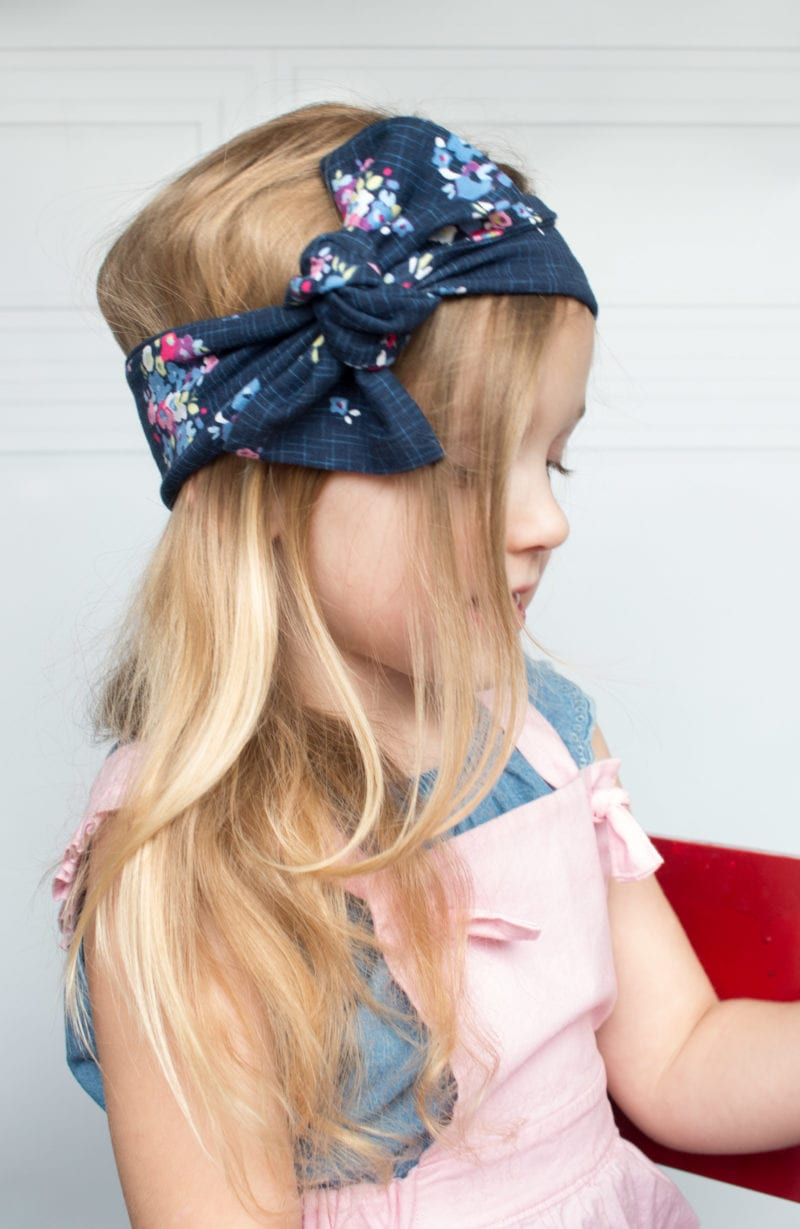 Top Knot Headband Sewing Tutorial featured by top US sewing blog, Sweet Red Poppy