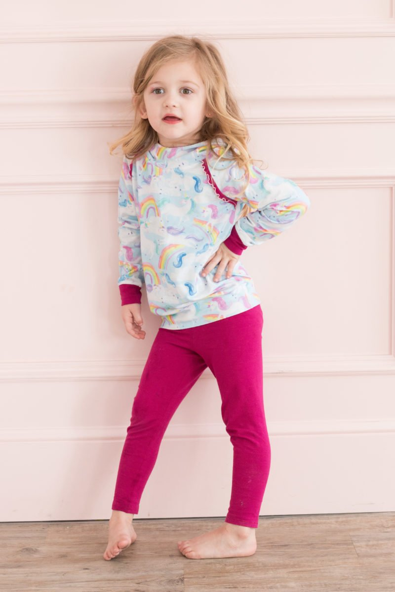 FREE Kids Leggings and Hoodie Sewing Patterns featured by top US sewing blogger, Sweet Red Poppy