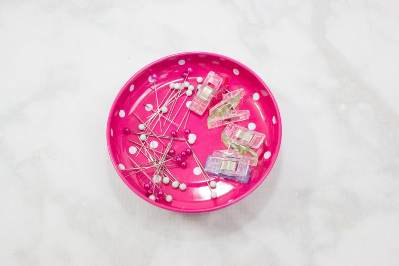 Use a magnetic pin bowl to easily store sewing pins and clips. Beginner Sewing Hacks