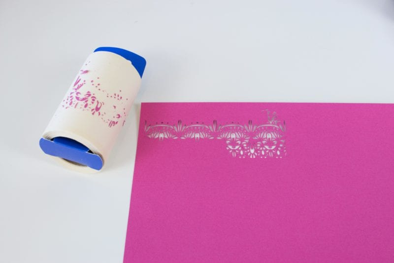 The Best Cricut Hacks featured by top US craft blog, Sweet Red Poppy: Use a lint Roller to remove small pieces of card stock