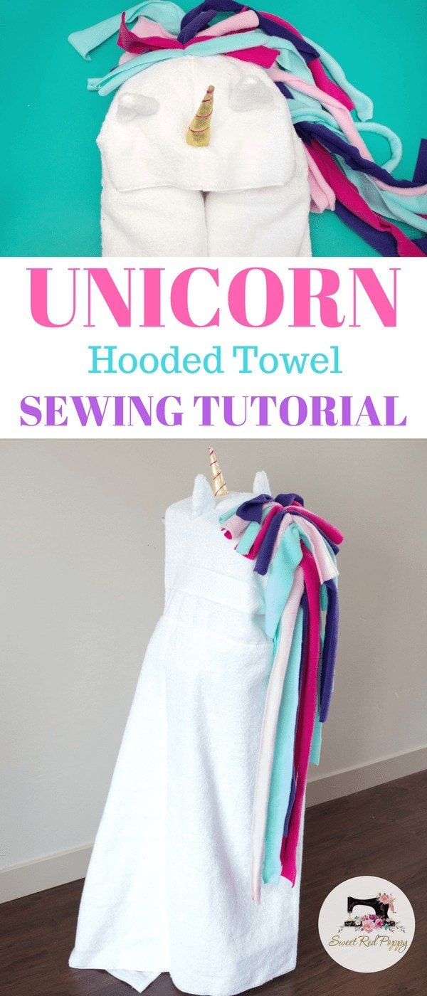 Learn how to Sew a Hooded Unicorn Bath Towel with this Sewing Tutorial