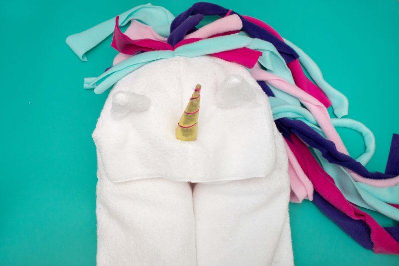 Hooded Unicorn Towel Sewing Tutorial