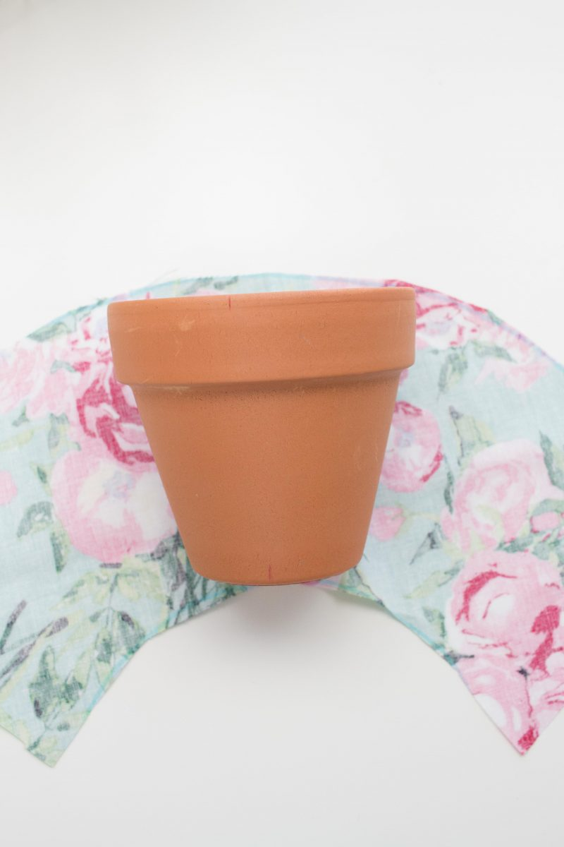 Fabric-Covered Flower Pot