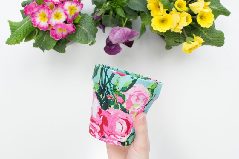 Easy Fabric Flower Pots