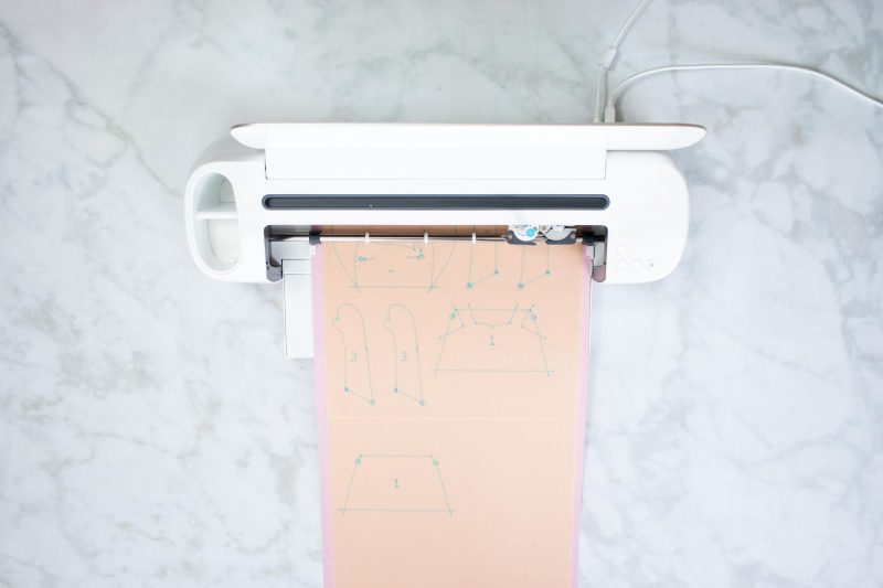 The Cricut Maker Cuts all of the Pattern Pieces and Draws in all of the Seam Allowances.
