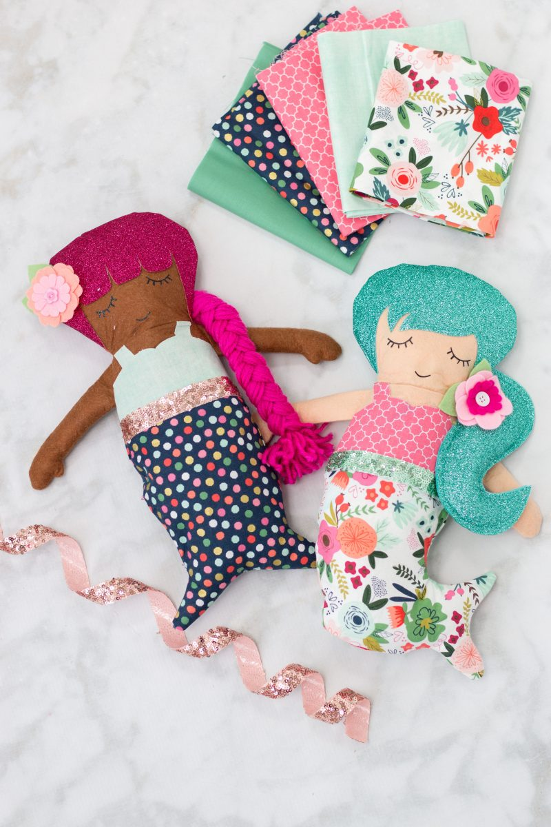 Cricut Maker Sewing Pattern Mermaid Doll