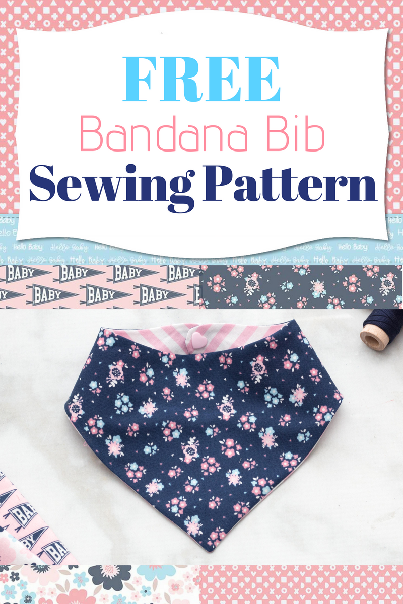 Free Bandana Bib Sewing Pattern Hello Baby Sweet Red Poppy