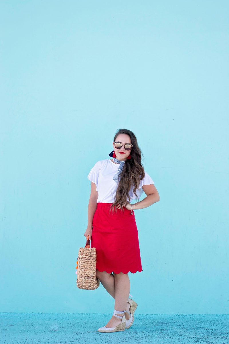 Free T-Shirt Pattern and Scalloped Skirt Sewing Tutorial.