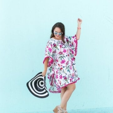 How to Sew a Swimsuit Coverup, a tutorial and sewing pattern featured by top US sewing blogger, Sweet Red Poppy