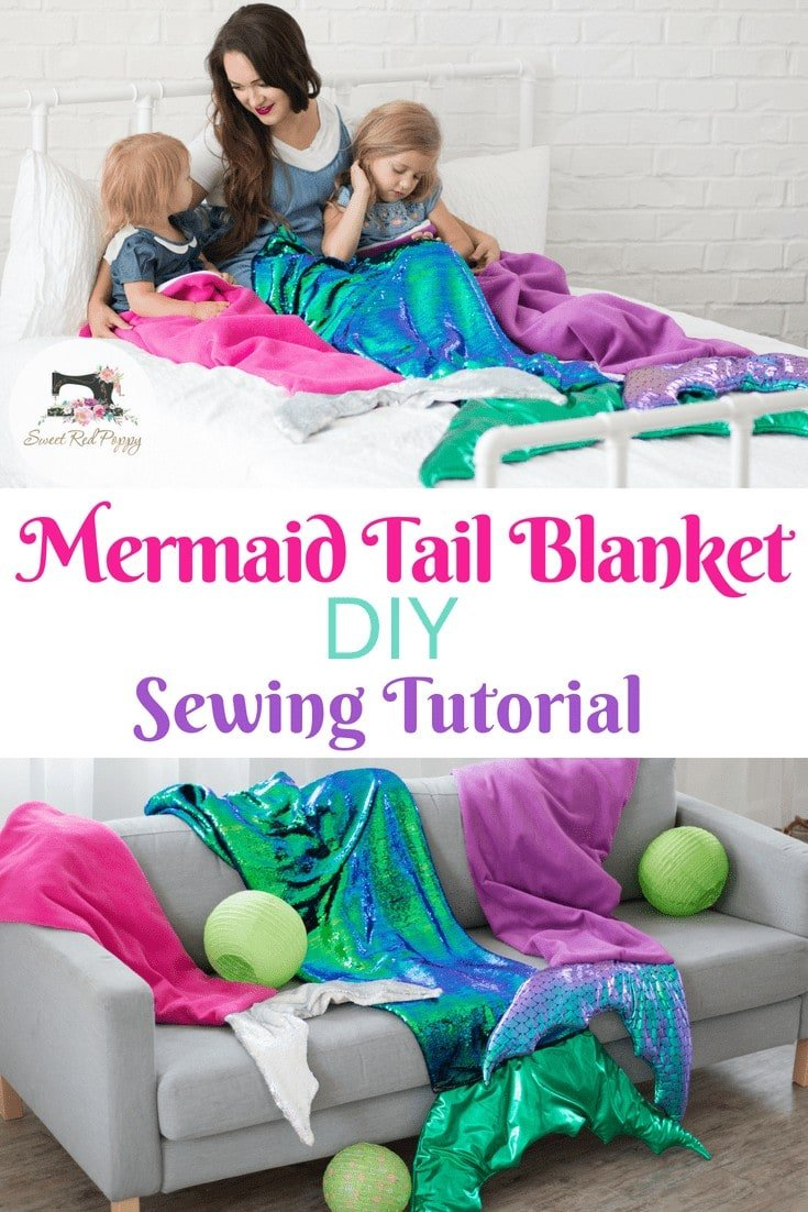 Learn How to Sew a Mermaid Tail Blanket with this Sewing Tutorial and Free Pattern