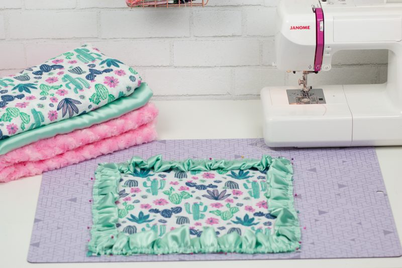 Gauze and Minky Blanket Sewing Tutorial