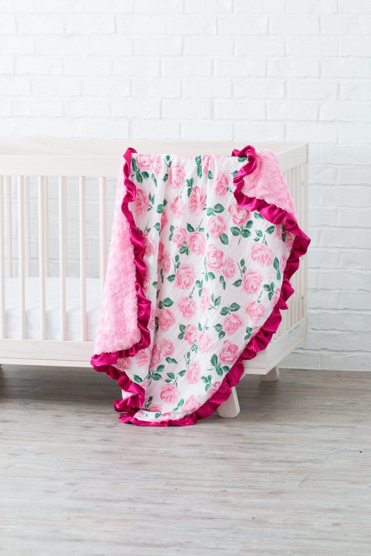 Ruffled Baby Blanket And Lovey Sewing Tutorial Shannon Fabrics Sweet Red Poppy