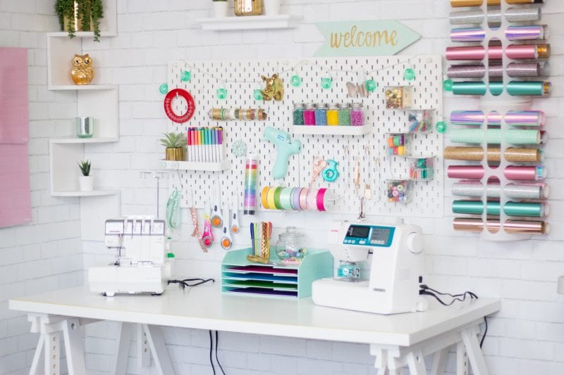 Cute & Functional Craft and Sewing Room Ideas featured by top US craft blog, Sweet Red Poppy: How to Organize your Craft and Sewing Space