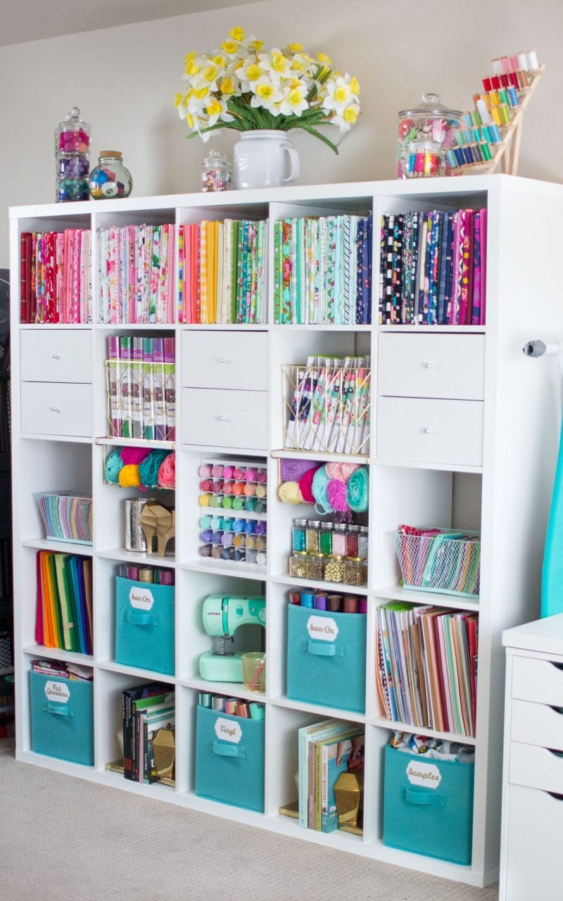 Cute & Functional Craft and Sewing Room Ideas featured by top US craft blog, Sweet Red Poppy: How to organize your fabric and sewing room