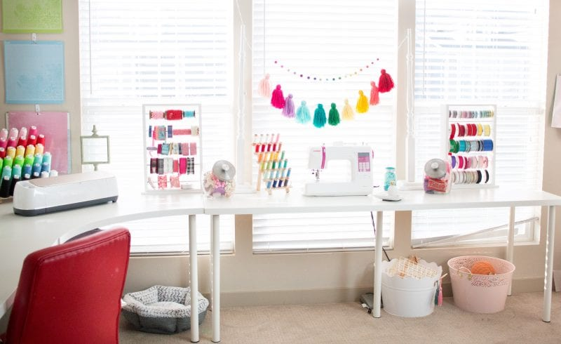 Cute & Functional Craft and Sewing Room Ideas featured by top US craft blog, Sweet Red Poppy