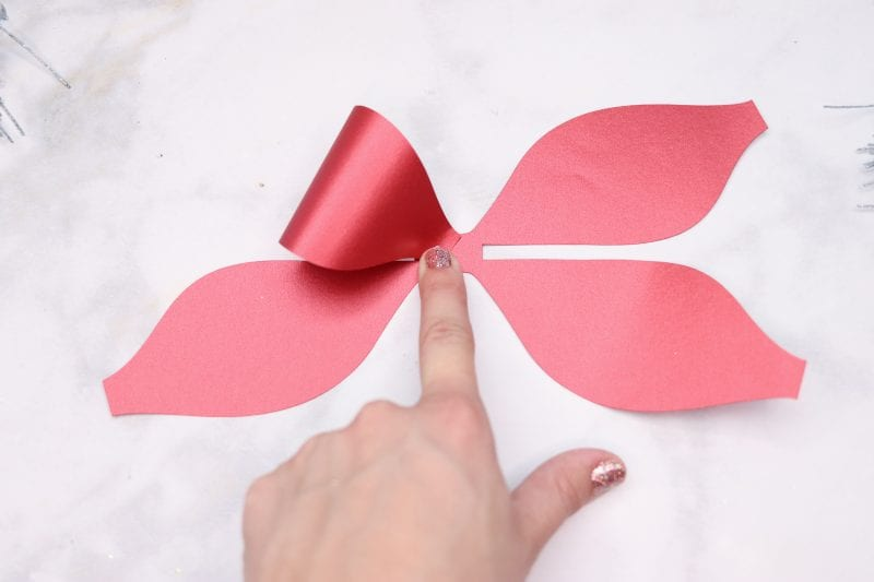 How to Make Hair Bows: DIY Stacked Christmas Hair Bow Tutorial featured by top US craft blogger, Sweet Red Poppy