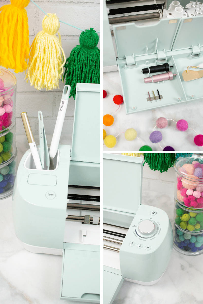 Cricut Maker vs Explore Air 2 review: Which Machine to Buy, a review featured by top US craft blog, Sweet Red Poppy: Cricut Explore Air 2 Tool Holder, Smart Dial and Extra Storage